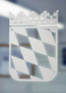 Ätzfolie für Glastüren