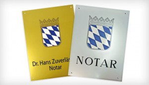 Amtsschilder für Ihr Notariat