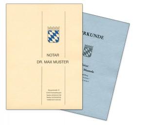 Urkundenumschläge aus ledergenarbtem Papier