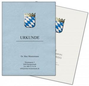 Notar-Urkundenumschläge mit Wappen in Heißfolienprägung